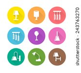 set of lamp icons with long... | Shutterstock .eps vector #243763270