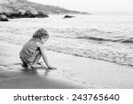 cute little girl playing on the ... | Shutterstock . vector #243765640