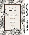 vintage vertical spring card.... | Shutterstock .eps vector #243765766