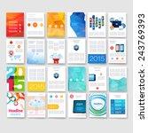 templates. set of flyer ...   Shutterstock .eps vector #243769393