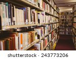 close up of a bookshelf in... | Shutterstock . vector #243773206
