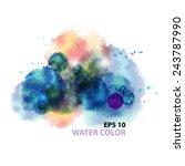 vintage watercolor texture... | Shutterstock .eps vector #243787990