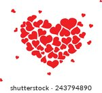 hand drawn hearts vector | Shutterstock .eps vector #243794890