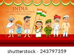 illustration of kids in fancy... | Shutterstock .eps vector #243797359
