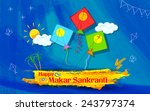 illustration of makar sankranti ... | Shutterstock .eps vector #243797374
