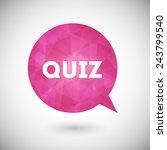 quiz vector icon | Shutterstock .eps vector #243799540