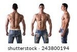 three views of muscular... | Shutterstock . vector #243800194