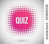 quiz vector icon | Shutterstock .eps vector #243800338