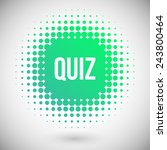 quiz vector icon | Shutterstock .eps vector #243800464