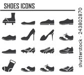 shoes icon set  | Shutterstock .eps vector #243802870