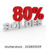 3d render 45 percent off with...   Shutterstock . vector #243805039