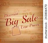 big sale vector illustration on ... | Shutterstock .eps vector #243806470