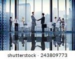 business people board room... | Shutterstock . vector #243809773