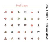 holidays and events colored... | Shutterstock .eps vector #243811750