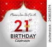 celebrating 21 years birthday ... | Shutterstock .eps vector #243815374