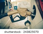 car refueling on a petrol... | Shutterstock . vector #243825070