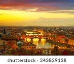 sunset view of bridge ponte... | Shutterstock . vector #243829138