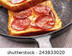 hot sandwiches with pepperoni...   Shutterstock . vector #243833020