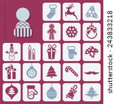 christmas icons set | Shutterstock . vector #243833218