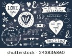 valentine's day design elements.... | Shutterstock .eps vector #243836860