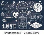 valentine's day design elements.... | Shutterstock .eps vector #243836899