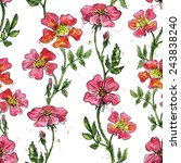 vector floral seamless pattern... | Shutterstock .eps vector #243838240