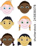 faces of boys and girls of... | Shutterstock .eps vector #243838378