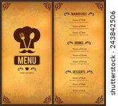 restaurant menu design. vector... | Shutterstock .eps vector #243842506