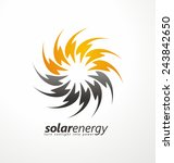 sun icon made from power... | Shutterstock .eps vector #243842650