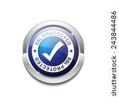 ssl protected blue vector icon...   Shutterstock .eps vector #243844486