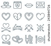 set of 16 thin line icons for...