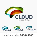 modern cloud company logo set ...   Shutterstock .eps vector #243845140