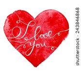 happy valentine's day vector... | Shutterstock .eps vector #243846868