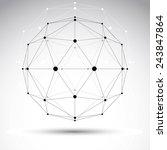 3d polygonal geometric...   Shutterstock .eps vector #243847864