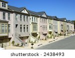New TownHomes - stock photo