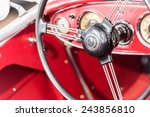 vintage car interior | Shutterstock . vector #243856810