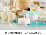 composition of spa treatment on ... | Shutterstock . vector #243862510