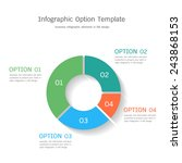 infographic option template in... | Shutterstock .eps vector #243868153