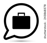 vector bubble with suitcase icon | Shutterstock .eps vector #243868378