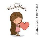love design over white... | Shutterstock .eps vector #243873466