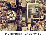 Aerial View Of A Stall In A...