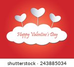 happy valentine's day greeting... | Shutterstock .eps vector #243885034