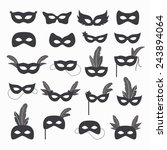 set of isolated carnival masks  ... | Shutterstock .eps vector #243894064