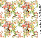 seamless pattern with wild... | Shutterstock . vector #243894400