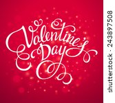 typography valentine's day cards | Shutterstock .eps vector #243897508