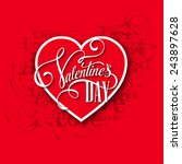 valentine's day cards. vector... | Shutterstock .eps vector #243897628