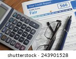 credit report with score on a...   Shutterstock . vector #243901528