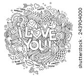 i love you hand lettering and... | Shutterstock .eps vector #243904000