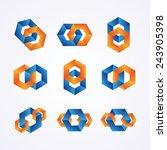 set of creative chain logos.  | Shutterstock .eps vector #243905398