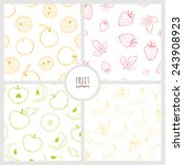 set of four seamless patterns... | Shutterstock .eps vector #243908923